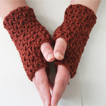 PDF Crochet Lace Fingerless Gloves Pattern Split DC by OneStitch
