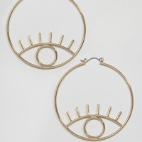 ASOS Open Eye Hoop Earrings at asos.com