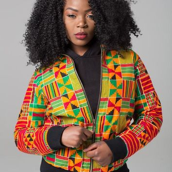 Trendy DARSJUCBD 2018 Autumn New Sexy Indie Folk Womens Jacket Coat Dashiki African Printed Zipper Bomber Jacket Coat High Quality AT_94_13