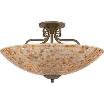 Quoizel MY1723ML Monterey Mosaic Malaga Five-Light Semi-Flush