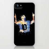 Lionel Messi Celebration iPhone & iPod Case by DanielBergerDesign