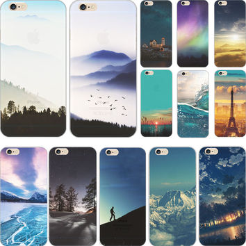 Fashion Suprise Painting Pretty The Sunrise TPU Cover For Apple iPhone 5 iPhone 5S Cases Case For Phone5S Phone Shell HRLL PC HH