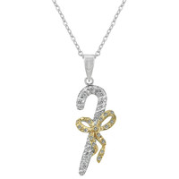 Candy Cane Cubic Zirconia Pendant