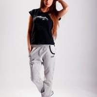 Gray sweatpants / Grey sweatpants / Sporty pants / Loose fit pants / Harem trousers / Drop crotch pants / Athletic trousers