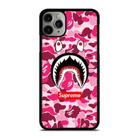 CAMO BATHING APE SUPREME PINK iPhone Case Cover