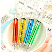 4Pcs/One Set Doctor Nurse Gift Liquid Syringe Injection Ballpoint Pen Ballpen = 1946249348