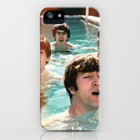 The Beatles, going for a swim iPhone & iPod Case by Anz Petros