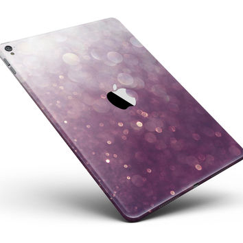 """Purple and White Unfocued Orbs of Light Full Body Skin for the iPad Pro (12.9"""" or 9.7"""" available)"""