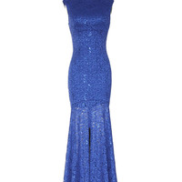 Fire and Ice Dress in Blue