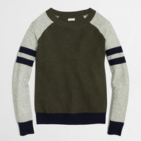 Factory varsity-stripe colorblock waffle sweater : waffle | J.Crew Factory