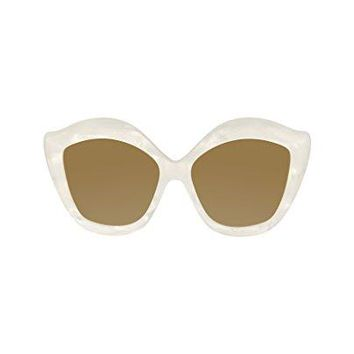 Gucci GG 0117 S- 003 WHITE/SILVER SUNGLASSES