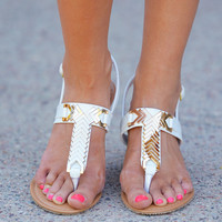 One Step Closer Sandal - White