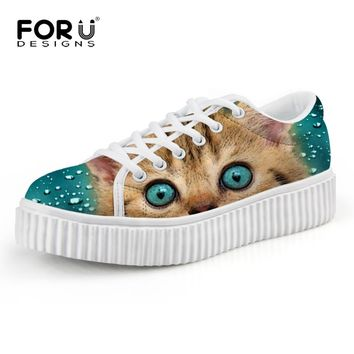 Women's Casual Lace Up Cat Shoes