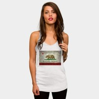 California Republic State Flag Racerback By Bruzer Design By Humans