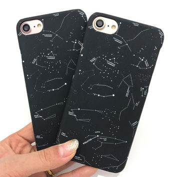 Lovely Cartoon Constellation Case For iphone 7 Case Fashion Beautiful Stars Sky Back Cover Hard Phone Cases For iphone7 7 Plus -0315