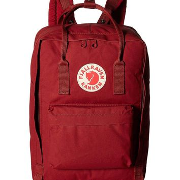 "fjallraven - the kanken 15"" laptop backpack - ox red"