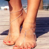 Metal Bars Multi-layer Foot Chain Anklets For Women