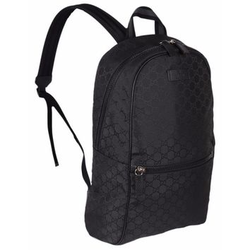 Gucci 449181 Black Nylon GG Guccissima Slim Backpack Rucksack Travel Bag | Overstock.com Shopping - The Best Deals on Designer Handbags