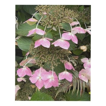Pink Lacecap Hydrangea Floral Panel Wall Art