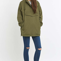 BDG Oversized Washed Khaki Smock Jacket - Urban Outfitters