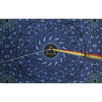 3D Pink Floyd Dark Side of Moon Lyrics Tapestry Tablecloth Spread 60x90 30x45
