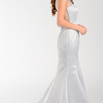 Satin Mermaid Prom Dress 101-7460