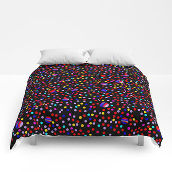 Colorful Rain 09 Comforters by Zia