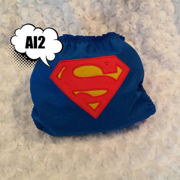 Superman All In Two (AI2) Cloth Diaper - One-Size or Newborn, S, M, L