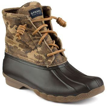 Women's Saltwater Duck Boot in Camo by Sperry - FINAL SALE
