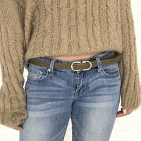 Closed Inn Belt In Olive