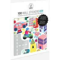 100 Wall Removable Reusable Stickers - City