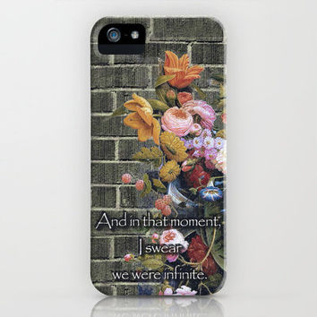 """And in that moment, I swear we were infinite."" (The Perks of Being a Wallflower) iPhone Case by Joke Vermeer 