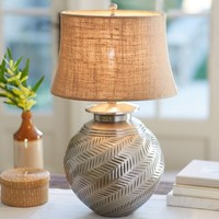 Nadia Hashed Metal Table Lamp Base