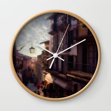 Dreamy Varenna Wall Clock by Nicolette Ward