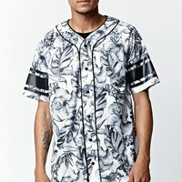 On The Byas Quincy Mesh Baseball Jersey - Mens Tee - White