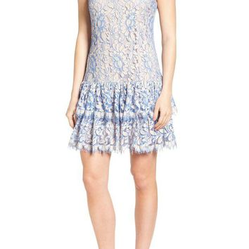 LMFON Eliza J | Ruffle Lace Dress | Nordstrom Rack