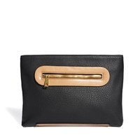 ASOS Zip Detail Clutch Bag