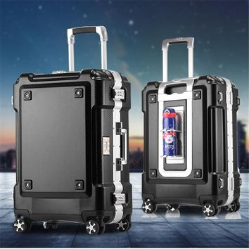 Hard-Side Spinner Aluminum Frame with ABS Luggage