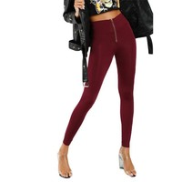 High Waist Burgundy Leggings