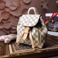LV Louis Vuitton Women Leather Backpack 2019 Casual Daypack