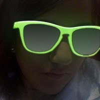 GLOW IN THE DARK (and Under Blacklight) SUNGLASSES