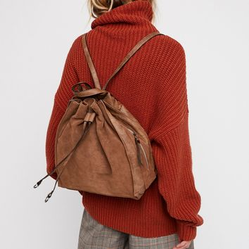 Free People Brooklyn Suede Backpack