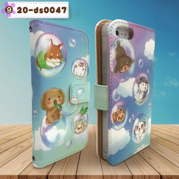 Mokomoko Poodle Cute Wallet Case for iPhone & Samsung Galaxy Design 9