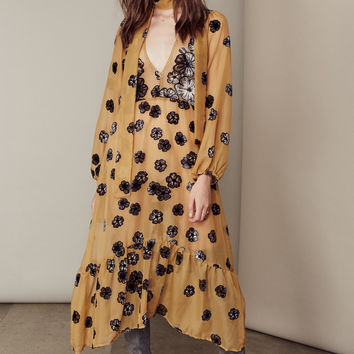 FOR LOVE & LEMONS SIERRA SCARF MIDI DRESS