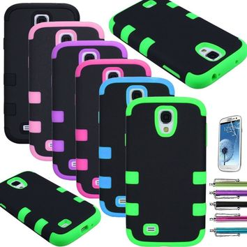 Hybrid Rugged Shockproof Rugged Rubber Hard Cover Case For Samsung GALAXY S3