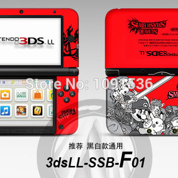 Mario Super Star Game front&back Decal Skin Sticker for Nintendo 3DSLL Sticker for  3DS XL LL for 3DSLL