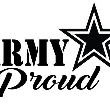 Army Proud Vinyl Graphic Decal