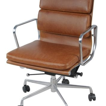 Chandel Low Back Office Chair, Vintage Tawny