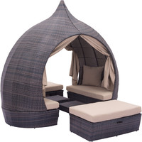 Majorca Outdoor Daybed Brown & Beige