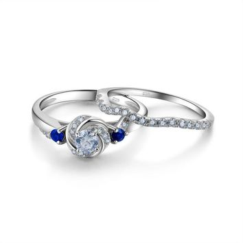 Sterling Silver Ring Round Jewelry For Women